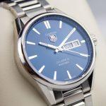Tag Heuer Carrera Calibre 5 Mens Blue Date Watch