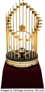 1992 Toronto Blue Jays World Series Championship Large Format Trophy from The Devon White Collection