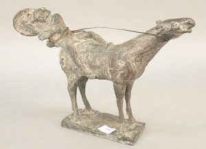 """Bruno Lucchesi (B1926), bronze, """"On the Road to Damascus,"""" 1959 Horse Rider, unsigned. ht. 11 1/4 in., lg. 15 1/2 in. Provenance: The Estate of Ed Bre"""