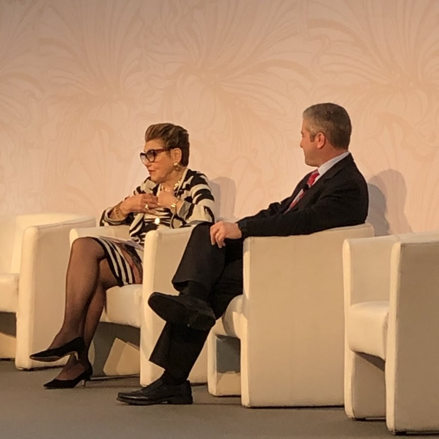 Rodica Seward speaking at the Global Auction House Summit 2020. Photo from the Invaluable Twitter account.