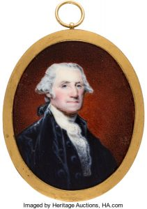 Miniature portrait of George Washington by William Birch