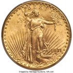 The 1931 is among the scarcest and most sought-after issues in the Saint-Gaudens double eagle