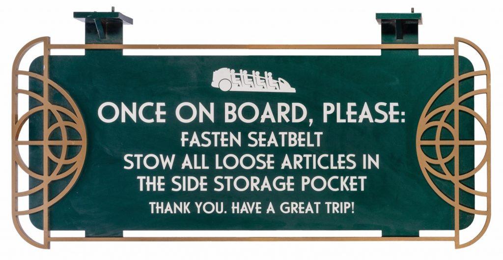 Disneyland Rocket Roads Park Used Loading Sign