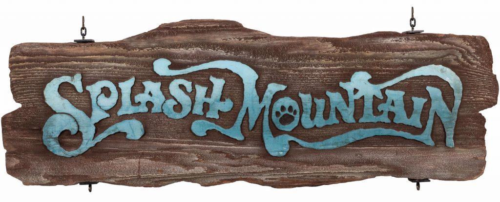 Walt Disney World Splash Mountain Exit Sign