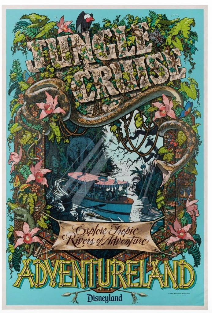 Jungle Cruise Silk-Screened Attraction Poster