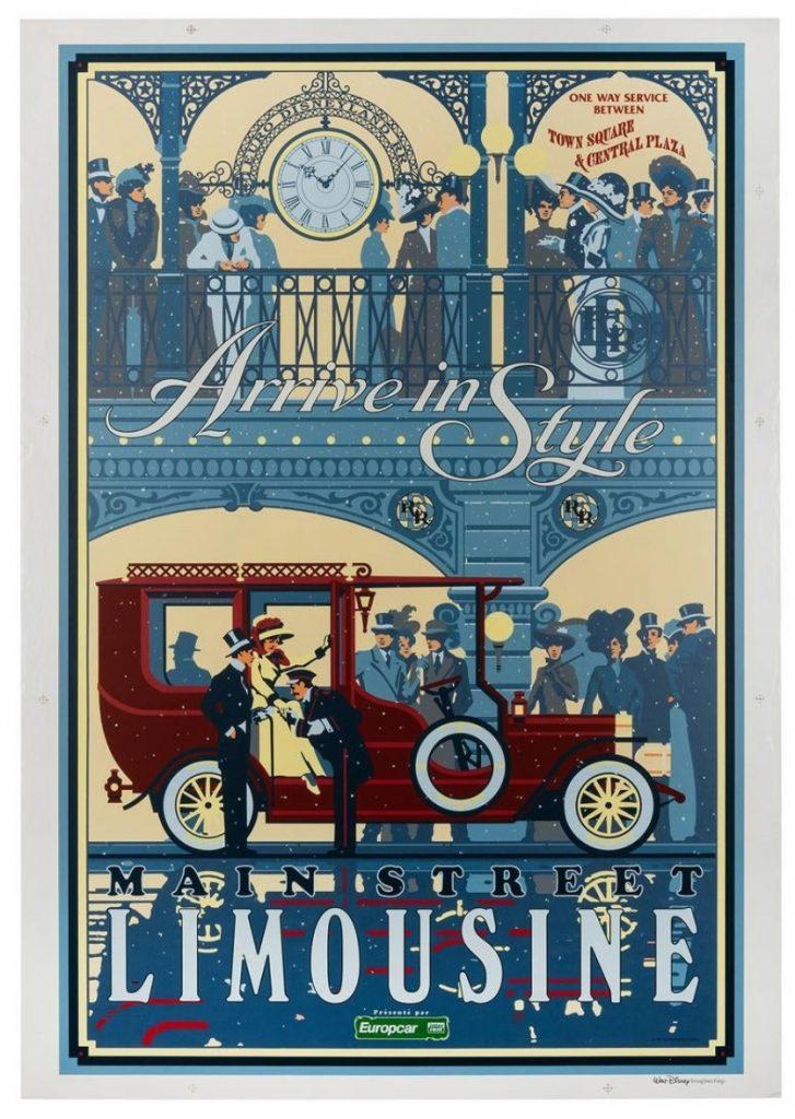 Main Street Limousine Silk-Screened Poster