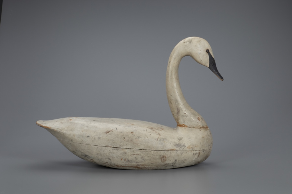 Lot 4, The Mackey Birch Swan Decoy, Charles Birch, Willis Wharf, VA, c. 1920; Sold for $210,000