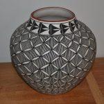 Large Acoma Vase Signed KL
