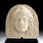 Greek Lucanian Terracotta Antefix of a Maenad