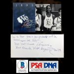 Kobe Bryant signed and inscribed 1992 middle school yearbook with a reference to the Los Angeles Lakers,
