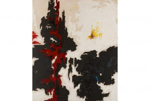 Clyfford Still, 1947-Y-No.1. Executed in 1947. Oil on canvas. Courtesy Sotheby's.