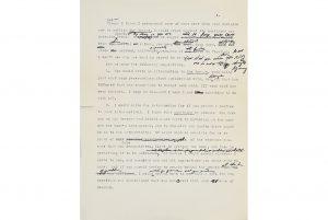 Philip Roth: excerpt from unpublished manuscript. Photo: Bonhams.