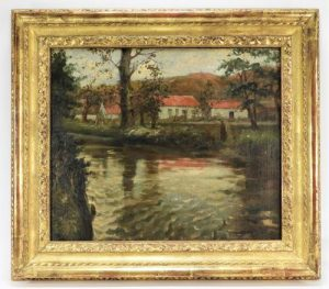 Impressionist oil on canvas painting by Norwegian artist Frits Thaulow