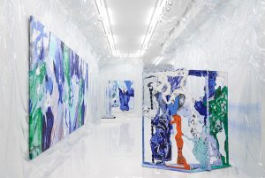 Installation view of WET SLIT at Simon Lee Gallery, London, UK.