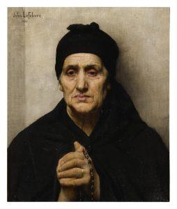 JULES JOSEPH LEFEBVRE - AN ELDERLY GREEK WOMAN