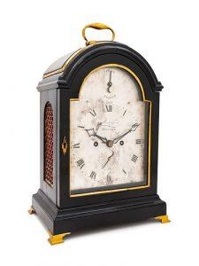 A George III Brass Mounted Ebonized Bracket Clock