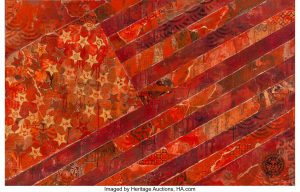 Shepard Fairey (b. 1970) May Day Flag Red (Version 2),