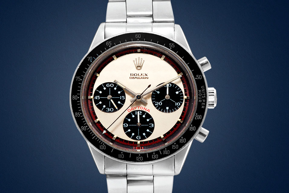 Paul Newman Daytona, Reference 6241, circa 1968. To be offered in the first sale, open for bidding 1-8 April (est. HKD 1-2m / USD 129,000 – 258,000). Courtesy Sotheby's.