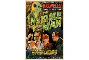 """The Invisible Man (Universal, 1933). Very Fine on Linen. One Sheet (27"""" X 41"""") Style B. Karoly Grosz Artwork."""