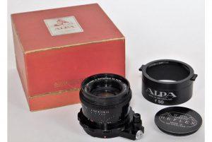 Kern Macro-Switar AR 50mm f/1.9 lens for Alpha mount, with lens hood, lens cap and original box