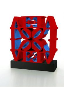 Robert Indiana, LOVE WALL (Red Blue), 1966-2007