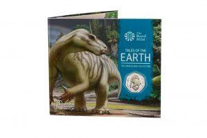 Brilliant Uncirculated Colour Iguanodon 2020 UK 50p coin