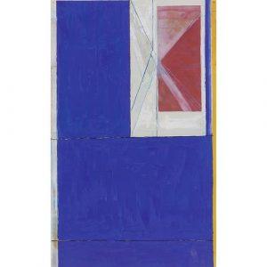 Richard Diebenkorn. Blue from The Ocean Park Series, 1984. Estimate $20,000-30,000
