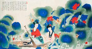 Zhang Daqian, Reminiscing Lotus Harvest.
