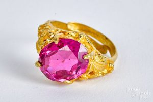 High grade gold and gemstone ring