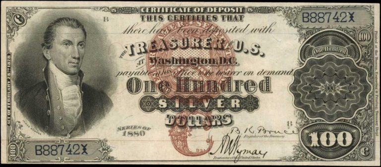 Friedberg 1217. 1922 $500 Gold Certificate. PMG Choice About Uncirculated 58.