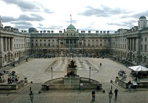 The courtyard of Somerset House, London