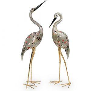 (2 Pc) Licio Zanetti Murano Glass Birds