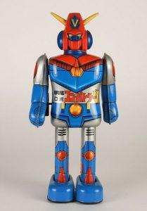 Japanese Popy Combattler V Tin Key Wind Robot Toy