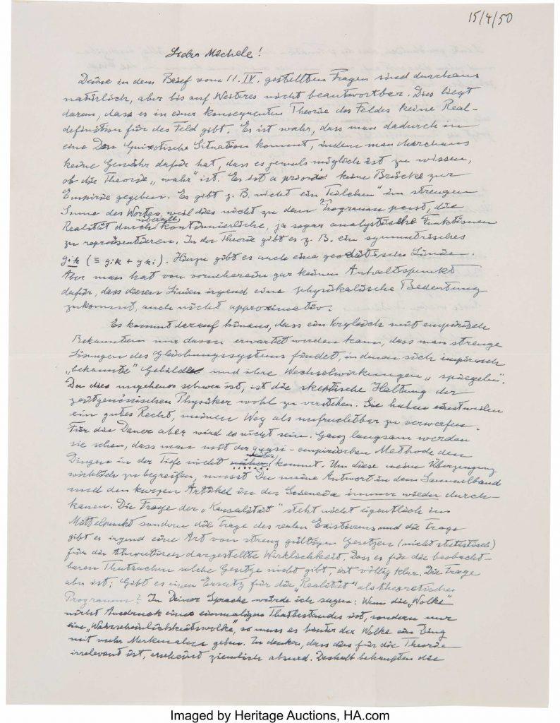 Albert Einstein Autograph Letter Signed