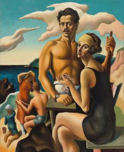 Self-Portrait with Rita, by Thomas Hart Benton. Oil on canvas (c. 1924). National Portrait Gallery, Smithsonian Institution.