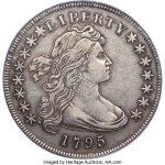 1795 Draped Bust Dollar, XF40 B-14, BB-51, Off Center