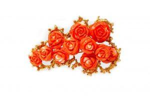Carved Coral Rose