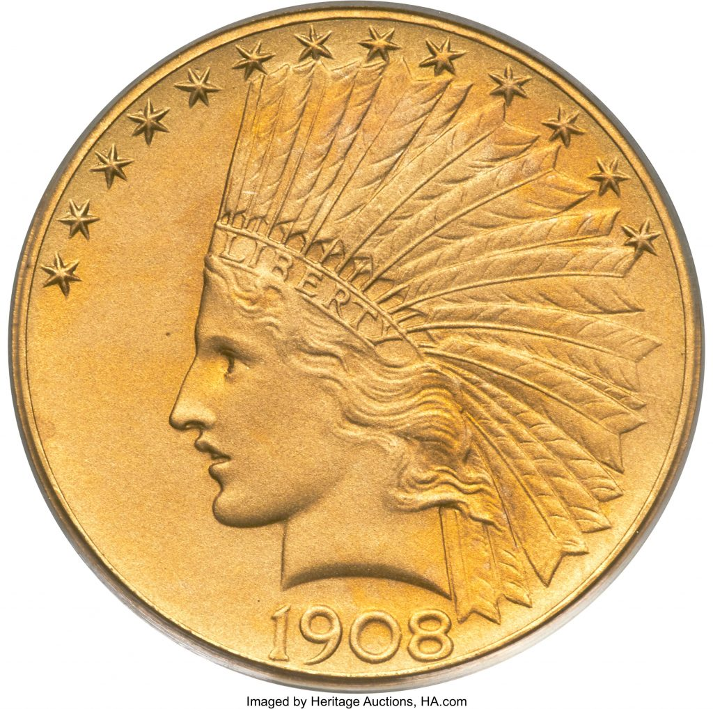 1908 $10 Motto PR66 PCGS