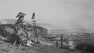 Nellie Gail Moulton, circa 1920, photographed at Three Arch Bay, California