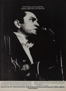 JOHNNY CASH ADVERTISEMENT FROM A 1969 EDITION OF BILLBOARD MAGAZINE