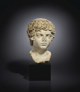 A ROMAN MARBLE PORTRAIT BUST OF THE YOUNG CARACALLA
