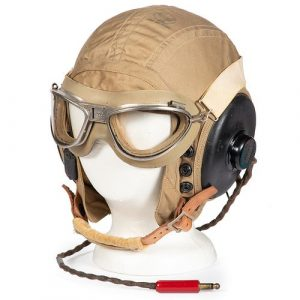 U.S. Model AN-H-15 Army Air Force Helmet with Goggles