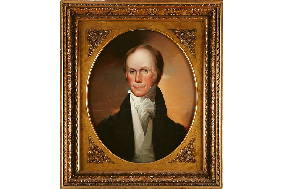 A portrait of Henry Clay (1777-1852), attributed to the School of Matthew Harris Jouett (1788-1827) (Lot 69, $30,000-50,000).
