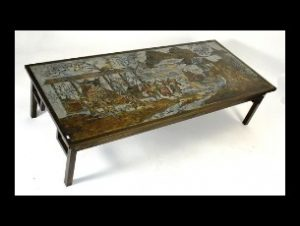 LaVerne bronze Oriental Marriage Whirl coffee table