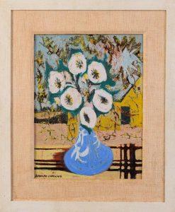 Bernard Langlais (1921 - 1977). Vase of Flowers.