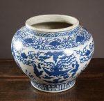 CHINESE BLUE AND WHITE PHOENIX PORCELAIN JAR
