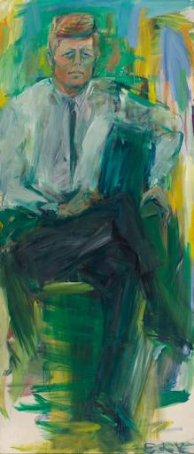 Elaine de Kooning, John F. Kennedy, 1963. Image from ARTnews