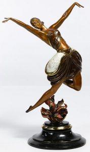 Romain de Tirtoff (Erte) (Russian, 1892-1990) La Danseuse Bronze Figurine