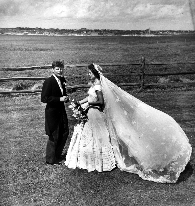 The wedding of then-Senator John F. Kennedy and Jacqueline Bouvier Kennedy in 1953. Photo courtesy of the John F. Kennedy Presidential Library.