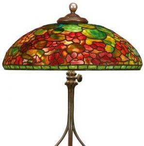 "TIFFANY ""NASTURTIUM"" TABLE LAMP, Lot 27, brought $206,250."